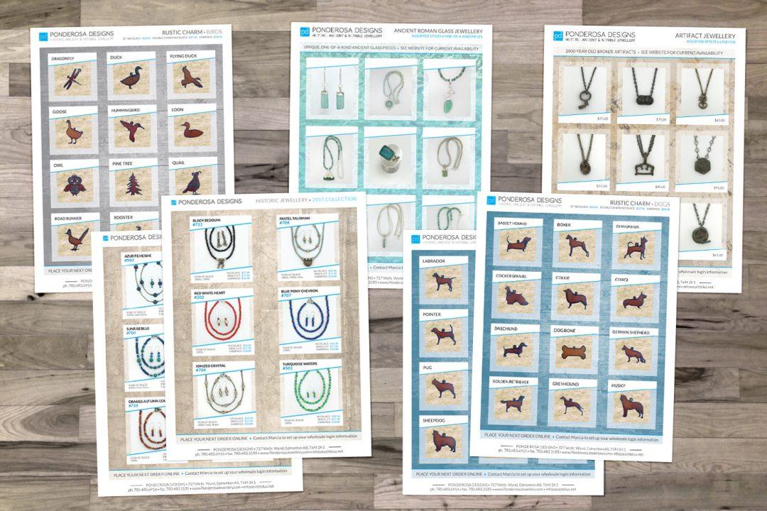 Ponderosa Designs Product Sheets