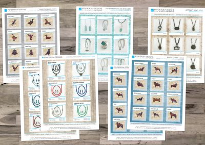 Ponderosa Designs Product Sheets